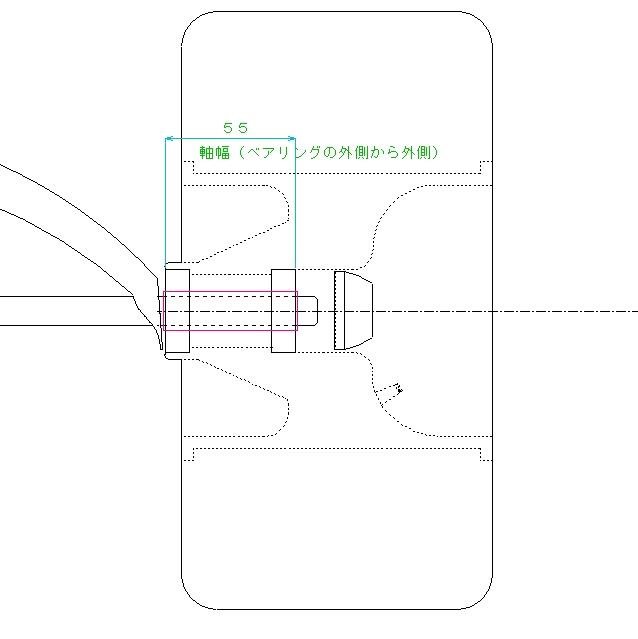 Fタイヤ透視図