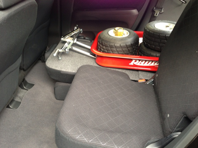 軽自動車 N-ONEにローダウンラジオフライヤーを積む2